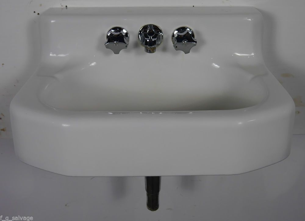 Details About Antique Vintage Kohler Bathroom Sink Wall Hung Cast Iron 1960s 'Taunton' K-2731