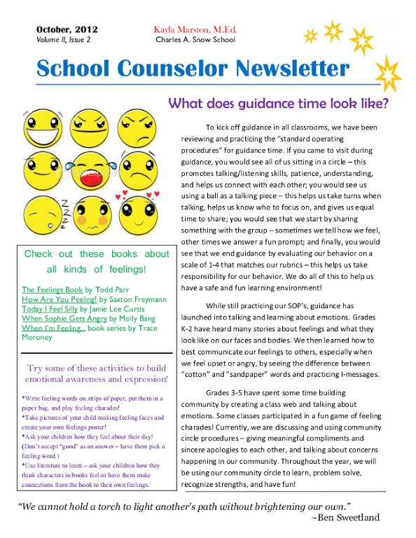 school counselor newsletter6 school pinterest school. Black Bedroom Furniture Sets. Home Design Ideas
