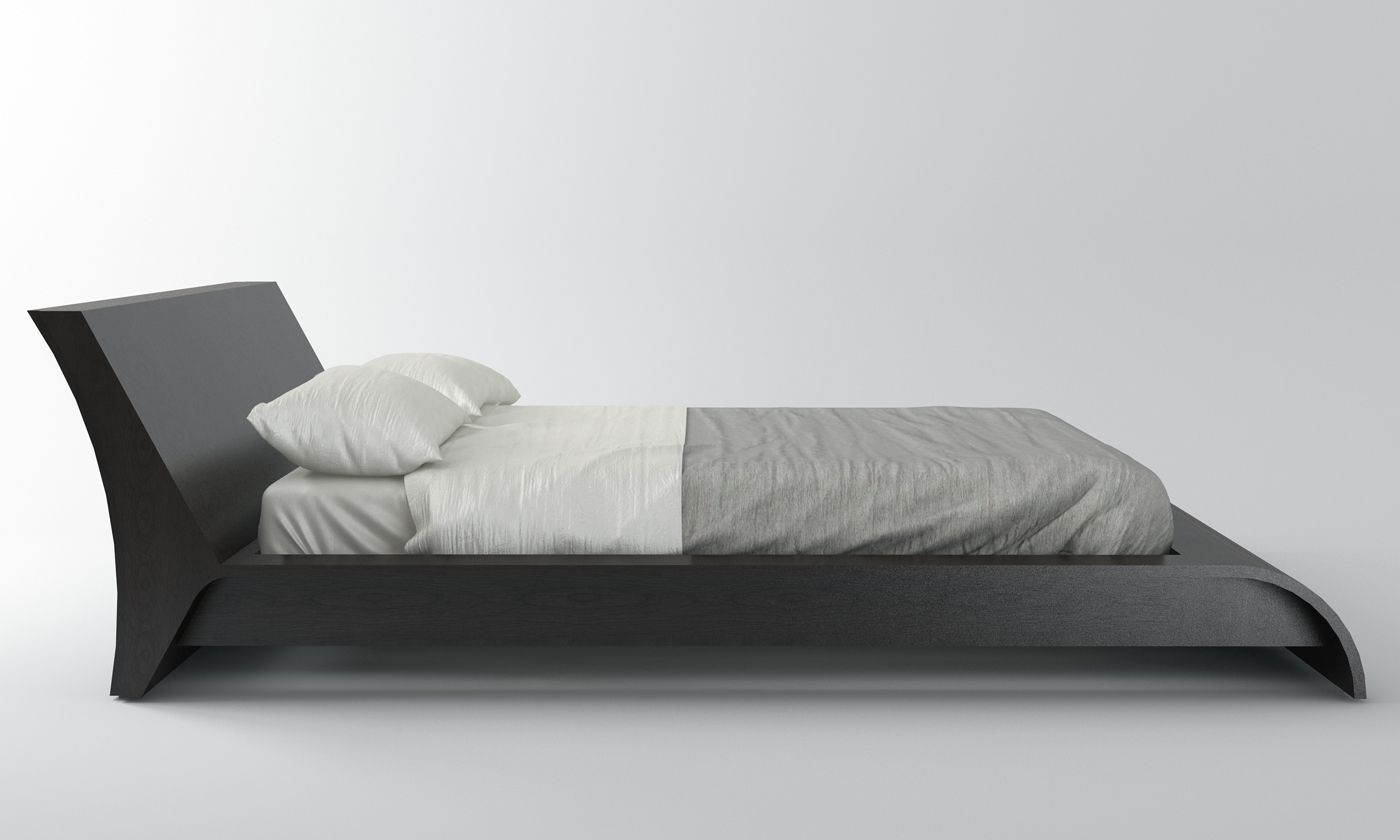 bedroom side view. Modloft Waverly Platform Bed | Free Shipping In Canada Bedroom Side View T
