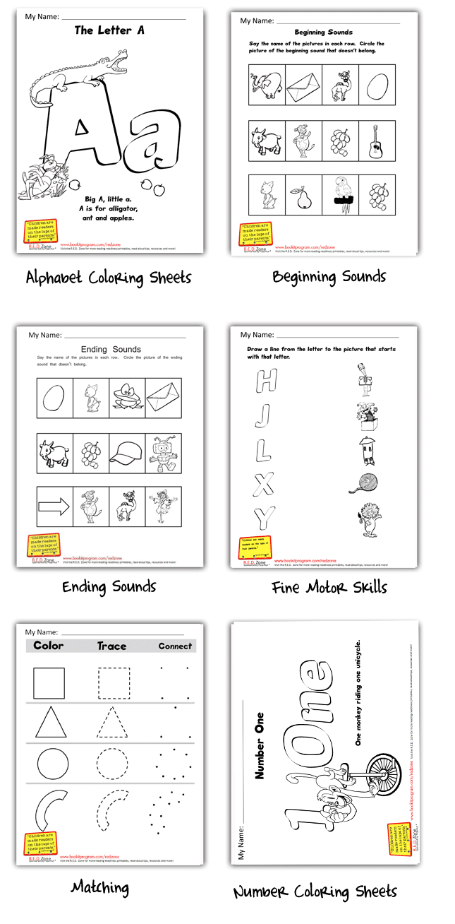 R E D Read Every Day Zone Printables School Readiness Program Reading Worksheets Preschool Programs [ 1308 x 645 Pixel ]