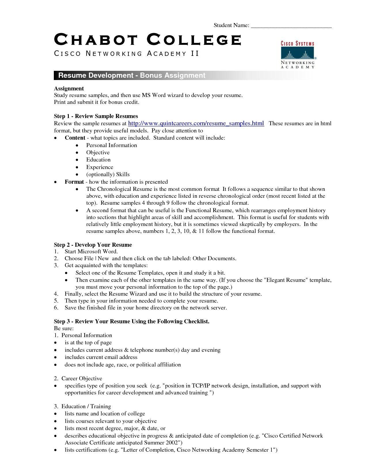 Resume Sample Template Word