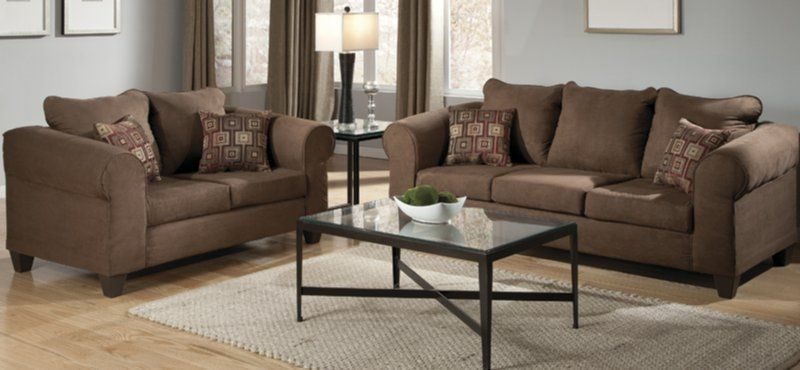 Amazing The Pieces From The Chandler Chocolate Microfiber 2 Piece Collection By  Delta Has A Timeless, Polished Look That Provide A Clean Base As Living Room  ...