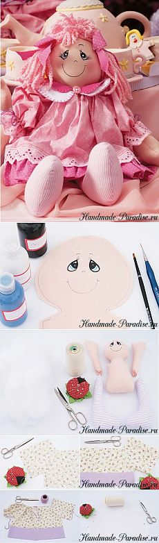 Как сшить текстильную куклу - Handmade-Paradise