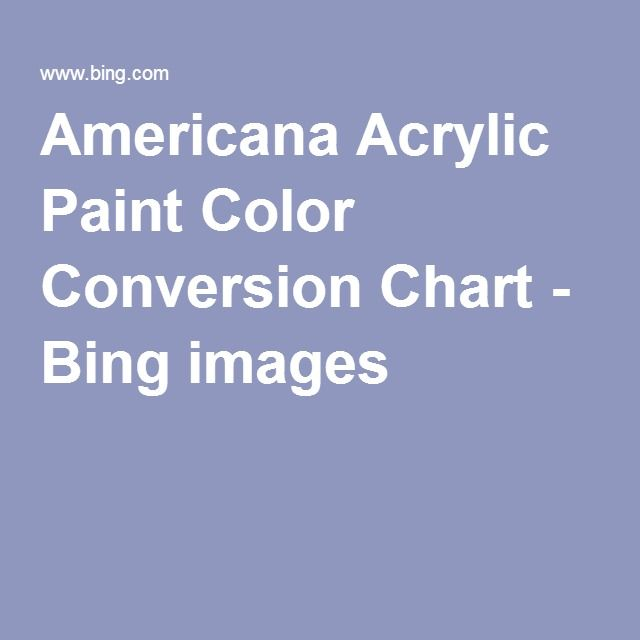 Americana Acrylic Paint Color Conversion Chart Bing Images Paint