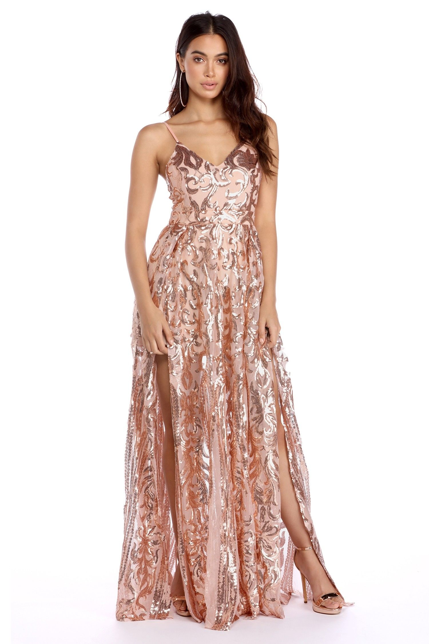 Grace rose gold princess dress bridesmaid dresses plus