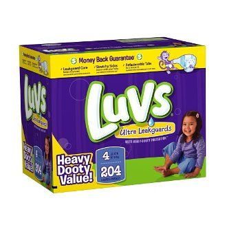Luvs- the only brand that keeps everything in. Best diaper out there.