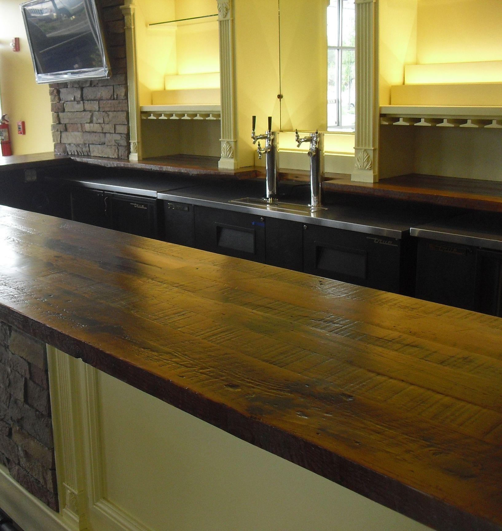 Wet Bar Definition: Rustic Bar Top- Pizzettas In Brunswick Forest. -http://www