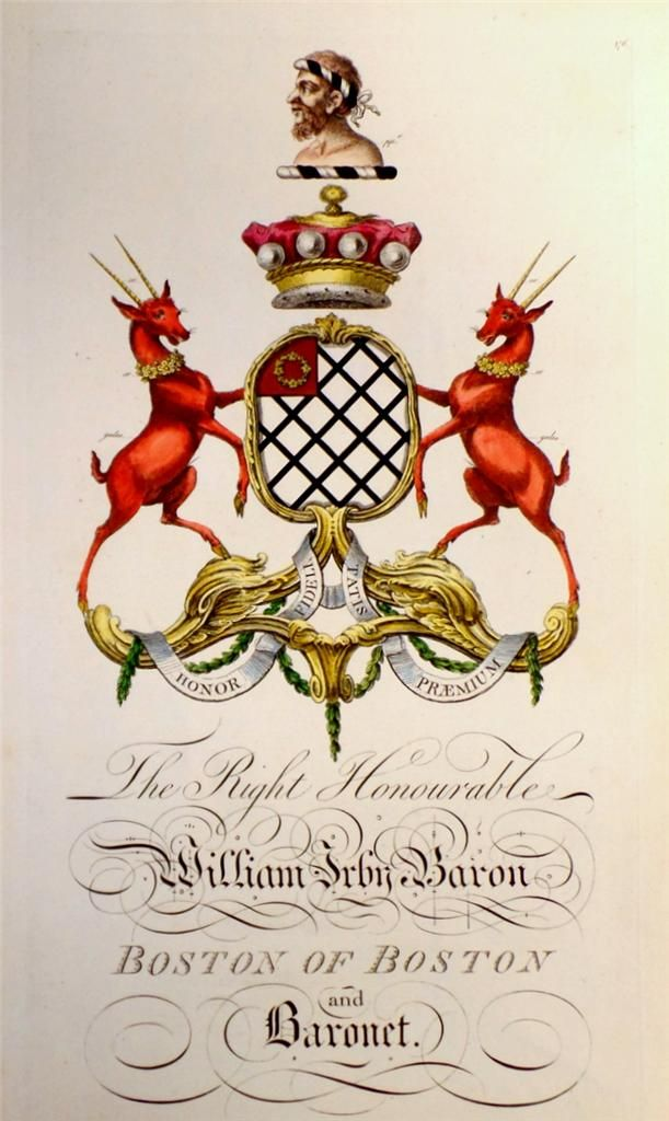 coat of arms of william irby 1707 1775 1st baron boston. Black Bedroom Furniture Sets. Home Design Ideas