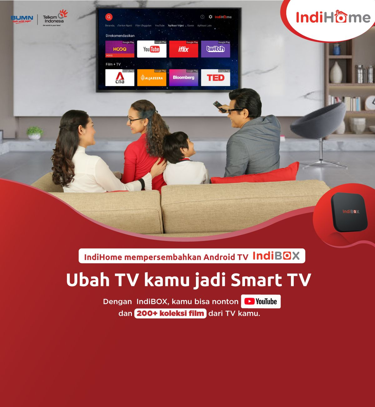 Welcome Page Indihome Smart Tv Youtube Film