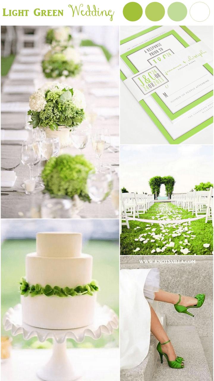 Green and White Wedding Inspiration | Green weddings, Weddings and ...