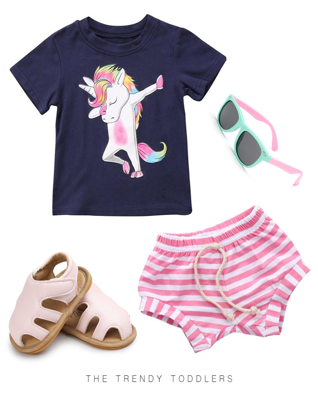 7abf43ea9338a Unicorn Dab Tee | The Trendy Toddlers collection | Beautiful unicorn ...
