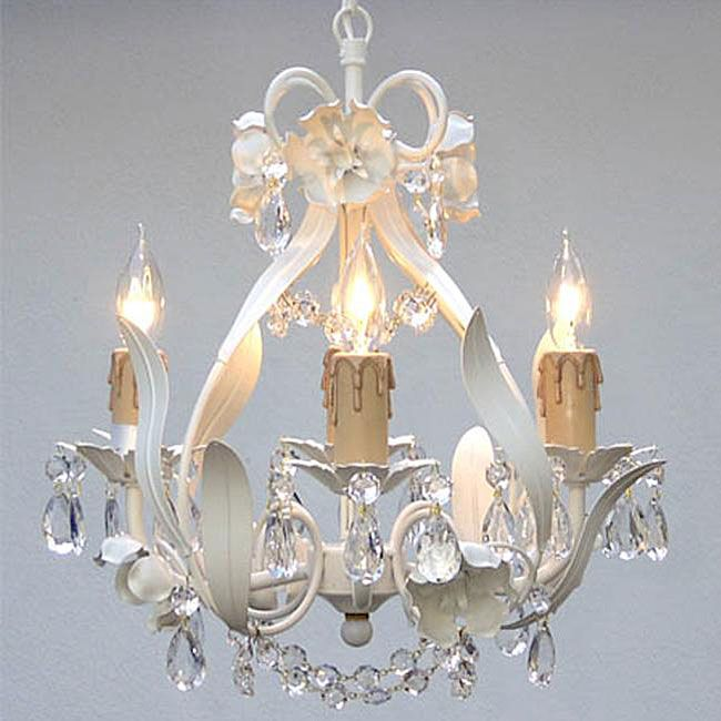 Cute Chandelier For A Small Space Plug In Chandelier Flower