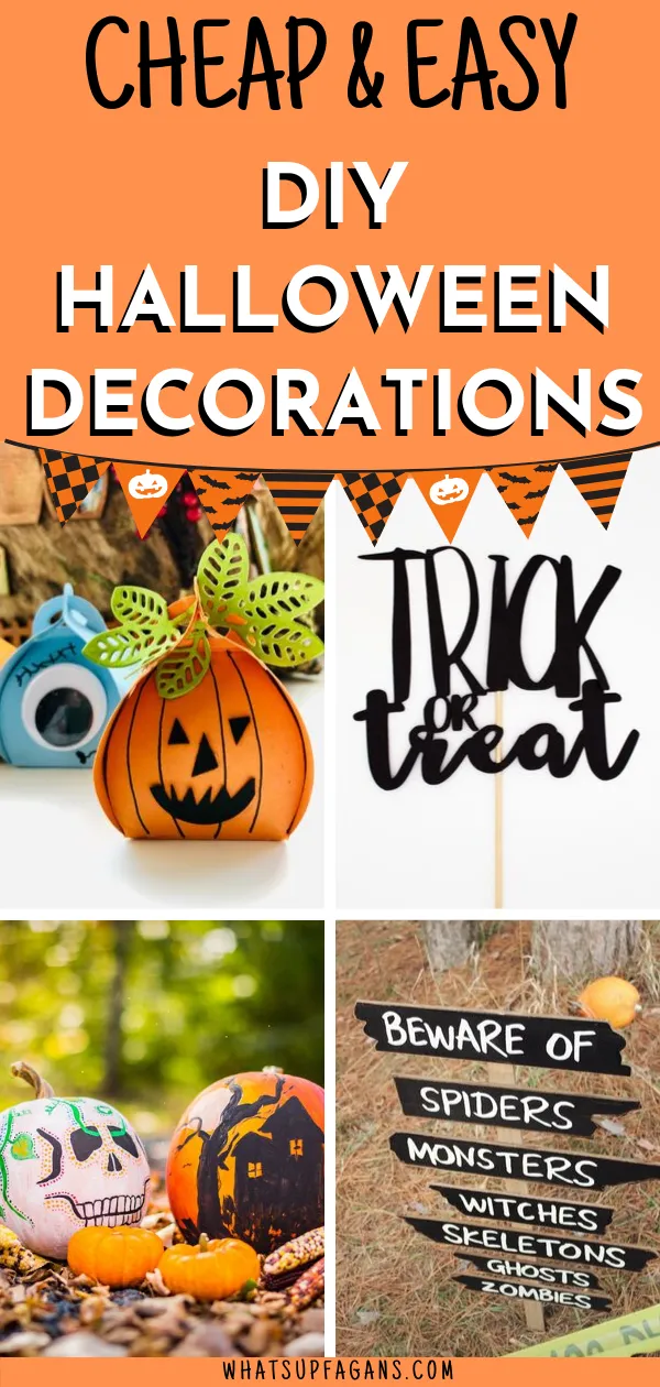 Cheap and Easy DIY Halloween Decorations Ideas for Outside and Inside #diyhalloweendecorationsforinside Cute and simple and easy! If you need some cheap Halloween decorations, here is the list of some truly easy DIY Halloween decorations for outside in your yard and inside.  #halloween #october #falldecor #halloweendecorations #halloweendecor #diyhalloween #diy #pumpkins #decor #diyhalloweendecorationsforinside Cheap and Easy DIY Halloween Decorations Ideas for Outside and Inside #diyhalloweende #diyhalloweendecorationsforinside