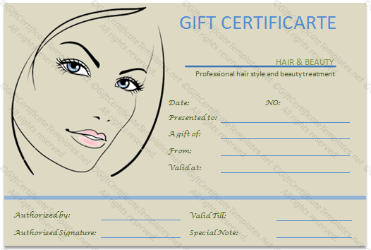Permalink To The Simple Beauty Spa Gift Certificate Template Sam S
