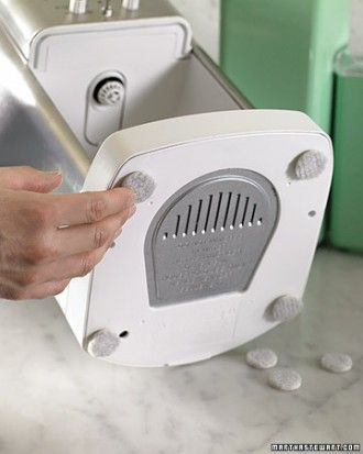 Countertop Protection - Add felt glides to the bottoms of small countertop appliances like coffeemakers and blenders.