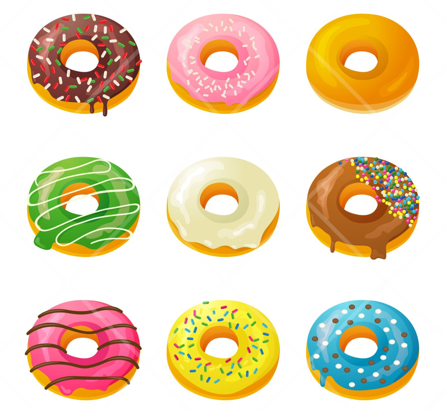 Donut wallpaper. Box of donuts clipart