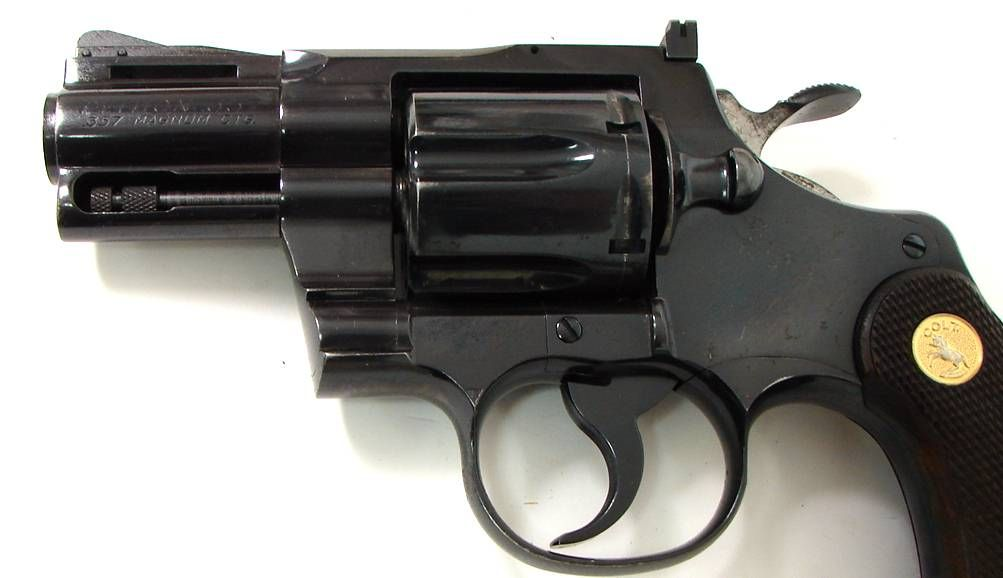 Colt Python  357 Mag caliber revolver  Early snubnose model made in