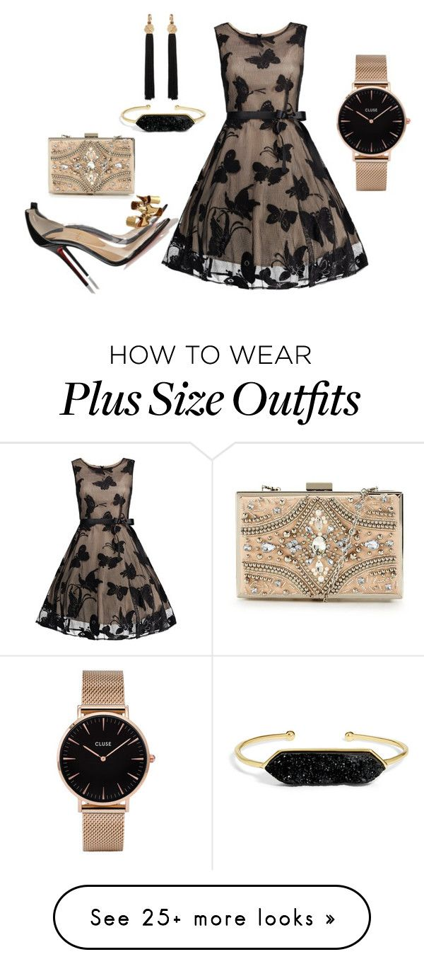 """""""Untitled #2065"""" by deirdre35 on Polyvore featuring Christian Louboutin, BaubleBar, Yves Saint Laurent, CLUSE and Forever Unique"""