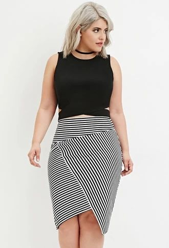 68f5e8447c Plus Size Side-Cutout Crop Top | Forever 21 #forever21plus ...