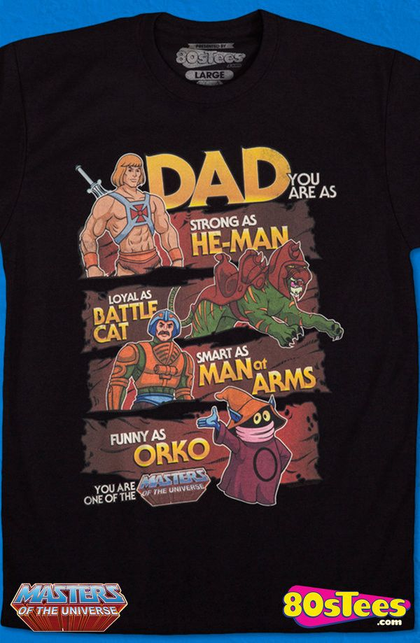 Father's Day He-Man T-Shirt: He-Man Mens T-Shirt MOTU Geeks:  Featuring most popular celebrities in MOTU history. Designed and skillfully illustrated, it is a work of art. Great men's  Father's Day fashion t-shirt.