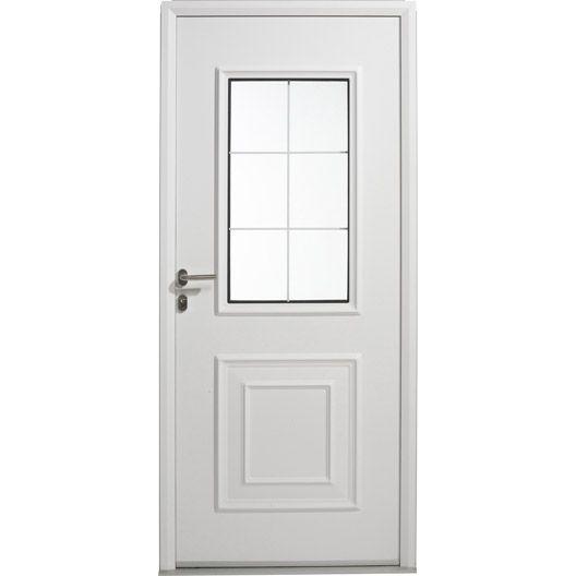 Porte Entrée Maison Aluminium Utah Artens Poussant Gauche