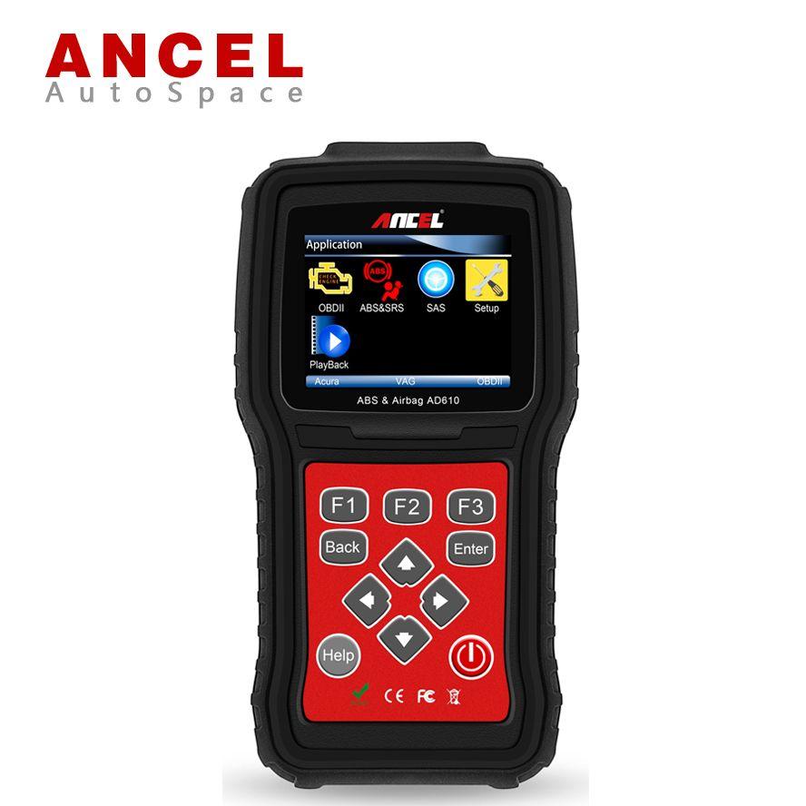Ancel ad610 car obd diagnostic tool for abs airbag crash