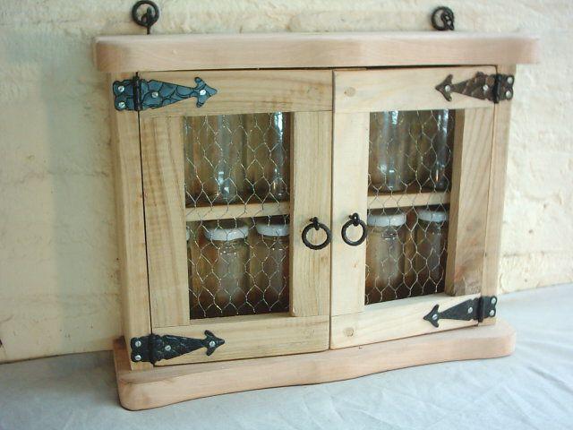 Especiero rustico artesanal estilo campo artesanias en for Bar de madera estilo campo