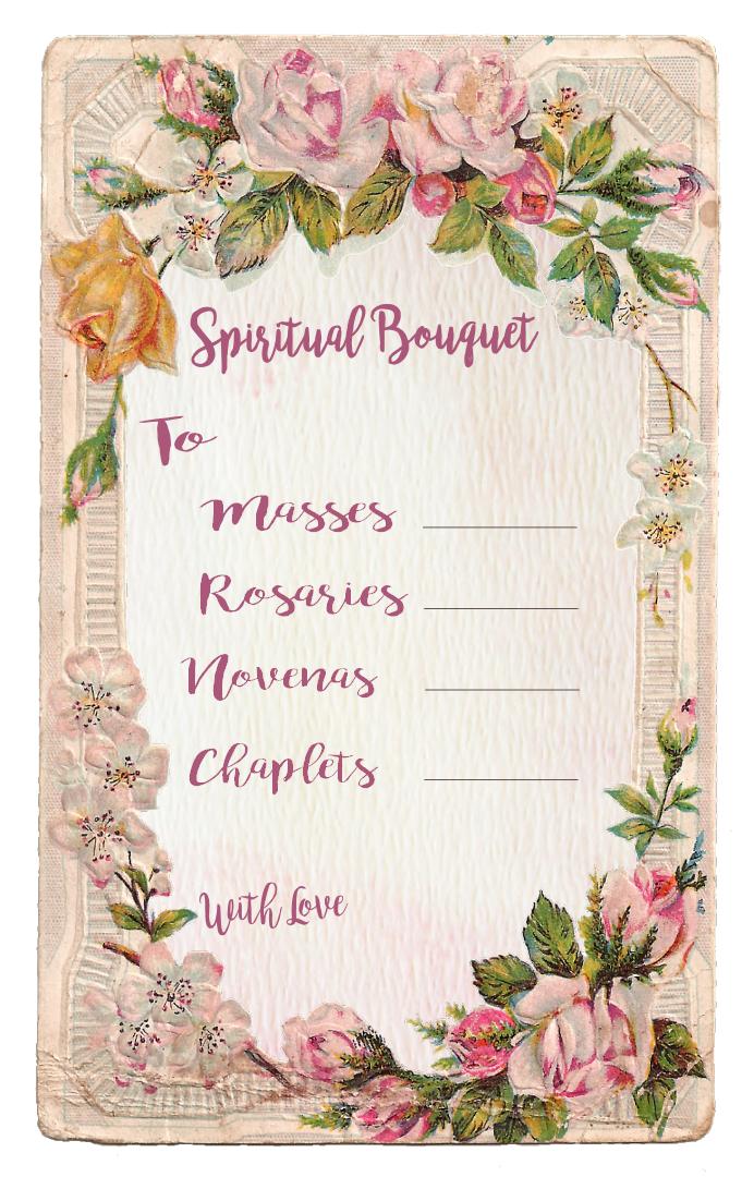 Spiritual Bouquet Gift Card Free Printables   Spiritual Bouquets