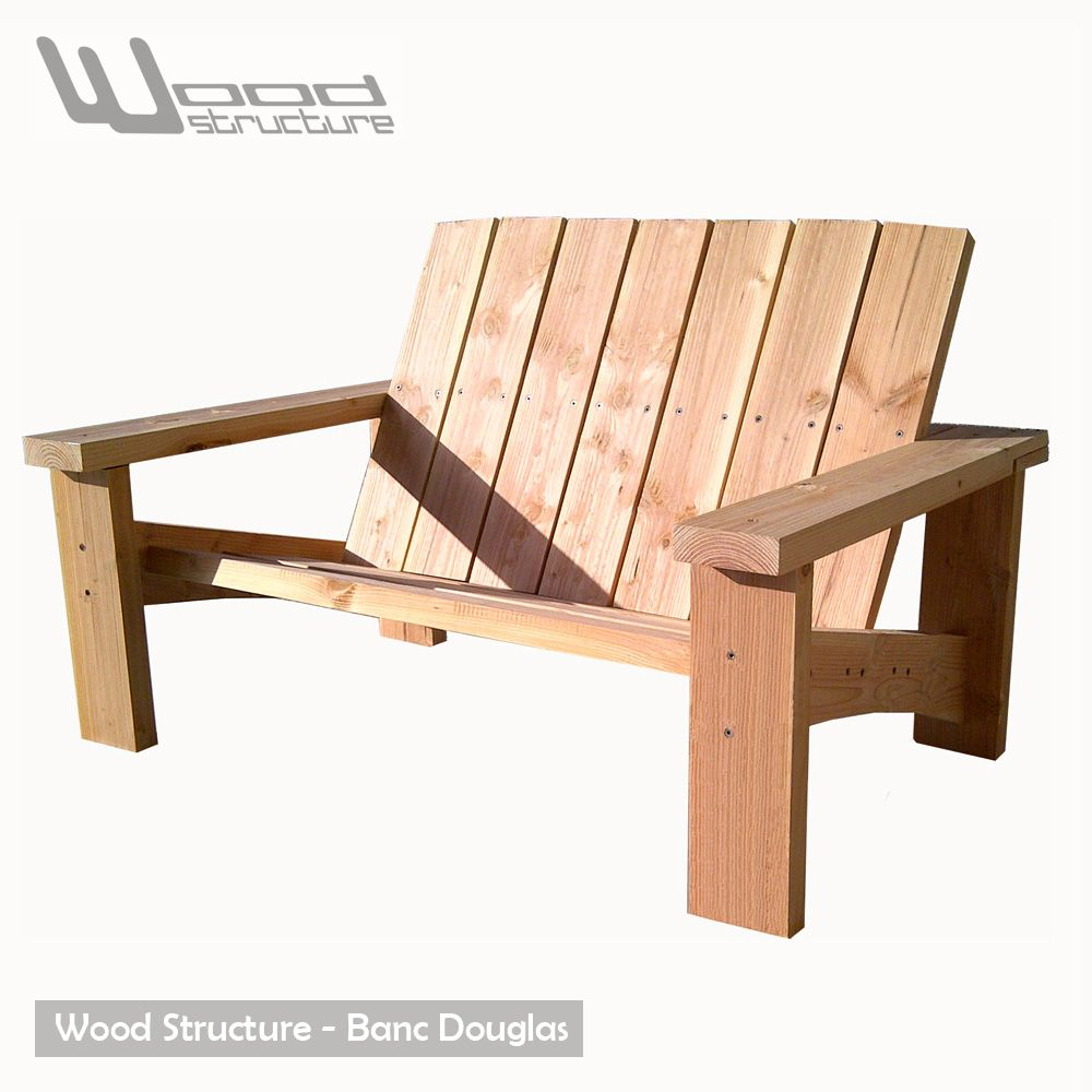 Banc Douglas   Design Wood Structure   Fabriquée En France Par La Sarl  Merlot   Fauteuil Bonnes Idees