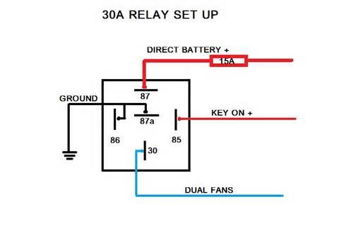 electric fans with relay wiring 12 volt dc pinterest cars rh pinterest com 30 amp relay wiring diagram electric fan electric furnace fan relay wiring diagram