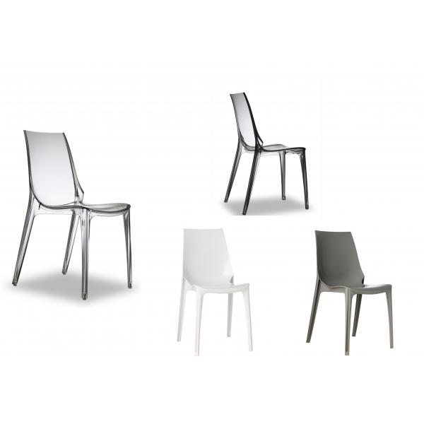 Sedie per ristoranti impilabili in policarbonato modello Vanity ...