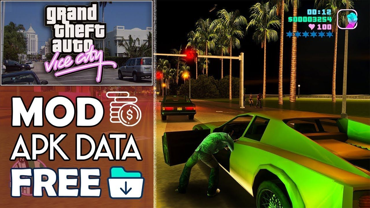 Download Gta Vice City Apk Mod Obb For Android 2018 Vice Latest Games City