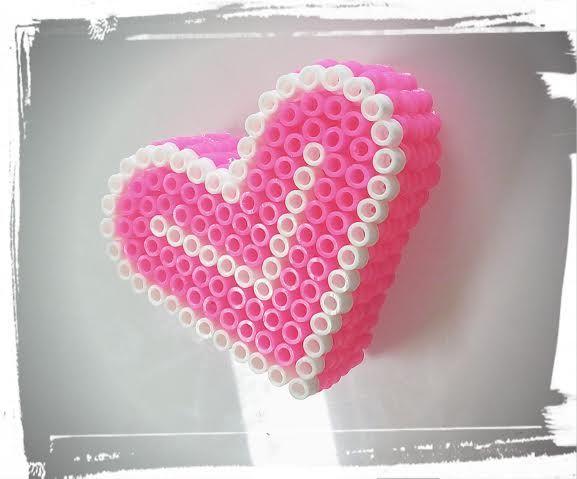 Boite coeur perles a repasser perles repasser hama - Coeur perle a repasser ...