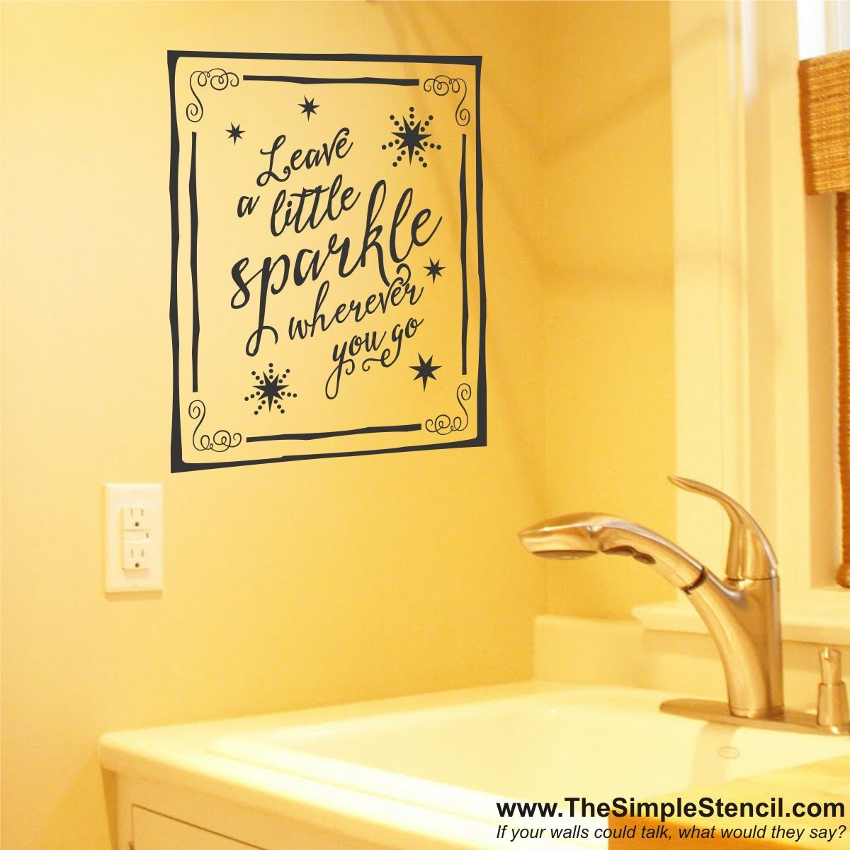 An Enlightening Vinyl Wall Quote Sticker That Reads Leave A - Custom vinyl wall decals sayings for bathroom