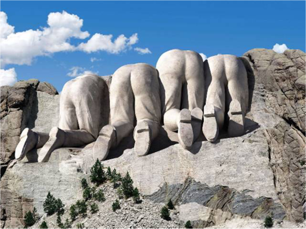 lol- Mt. Rushmore from the Canadian side