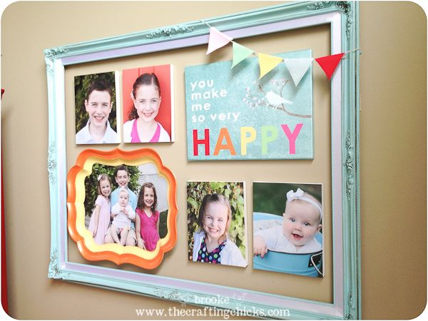 Colorful Framed Gallery Wall for Mother\'s Day {with Martha Stewart ...