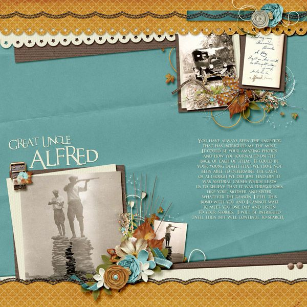 Layout created by Wendy Tunison using Autumn's Kiss by Wendy Tunison Designs