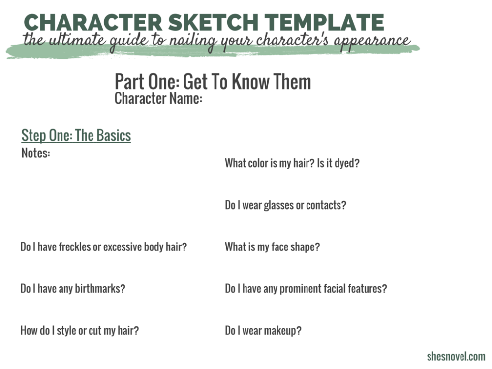 How to Capture Your Character\'s Appearance | Character sketches