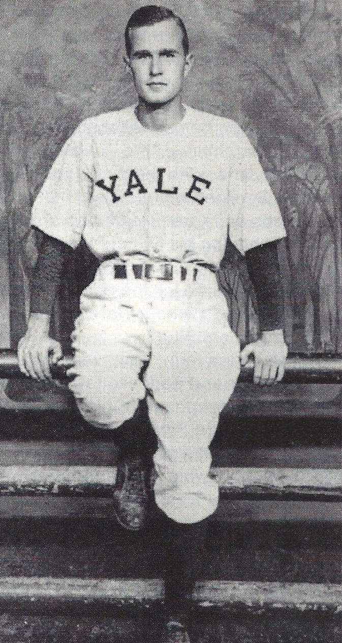 George H Bush Captain Of The Yale Baseball Team In 1948 He Played