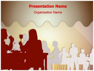 drinking dining restaurant powerpoint template is one of the best, Powerpoint templates
