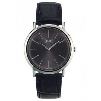 630fc41dd5a Piaget Altiplano Mechanical Black Dial 18Kt White Gold Mens Watch GOA29113