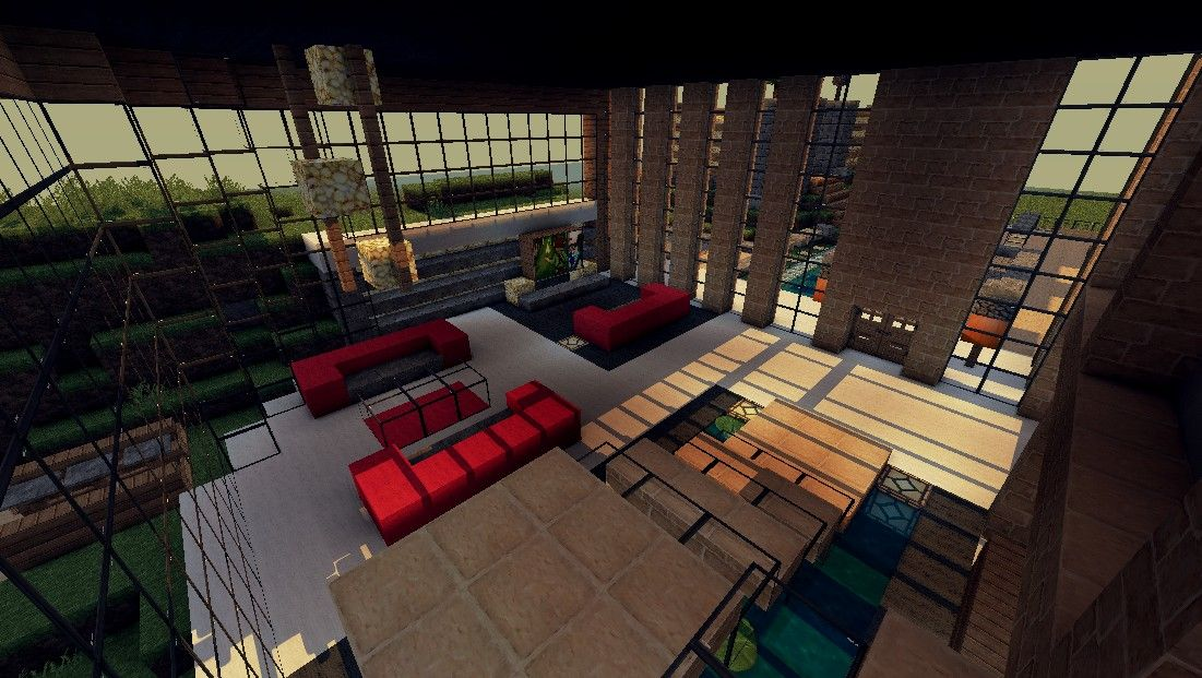Pin By Heidi Jensen On Minecraft Modern Minecraft Houses Minecraft Interior Design Minecraft House Designs