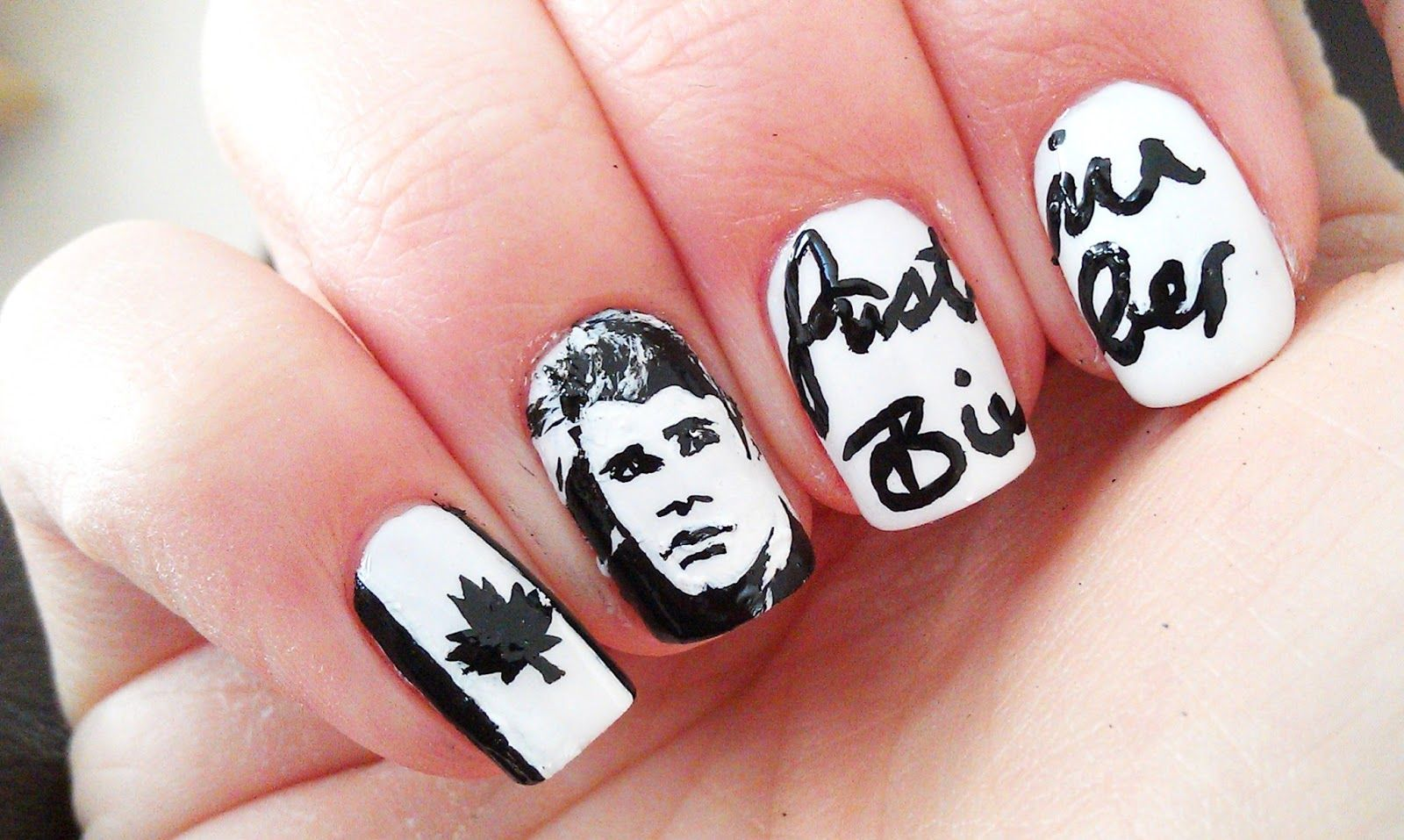 Aweosome Justin Bieber Nail Art♤   Nails   Pinterest   Justin ...