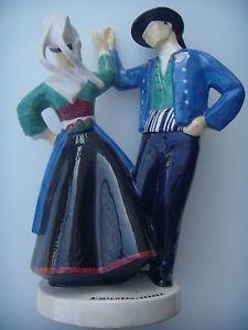 Grand Danseurs De Plougastel Daoulas Micheau Vernez Henriot Quimper Vers 1930 Quimper Danseuse Faience De Quimper