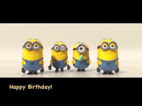 Minions Sing Happy Birthday Youtube Geburtstagslieder Alles