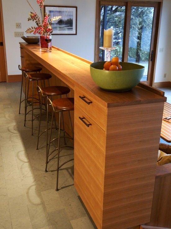 Breakfast Bar With Storage Foter