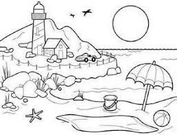 image result for natural scenery images outline sana beach coloring pages summer coloring. Black Bedroom Furniture Sets. Home Design Ideas