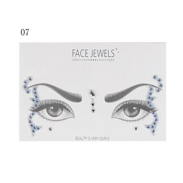 8a6b83fbcf 1PC Christmas DIY Eyebrow Face Body Art Adhesive Crystal Glitter ...