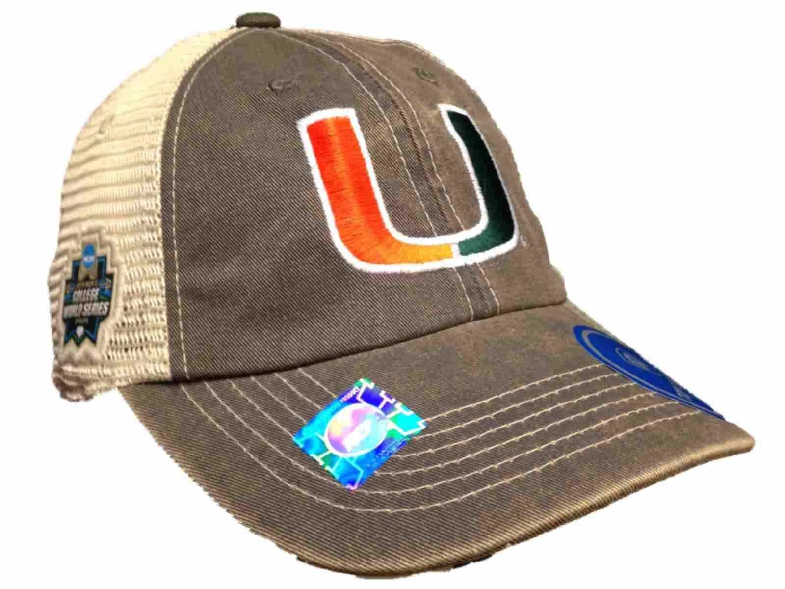 new concept e7479 60158 ... promo code for miami hurricanes 2016 college world series cws mesh  adjustable snapback hat cap b2ee8