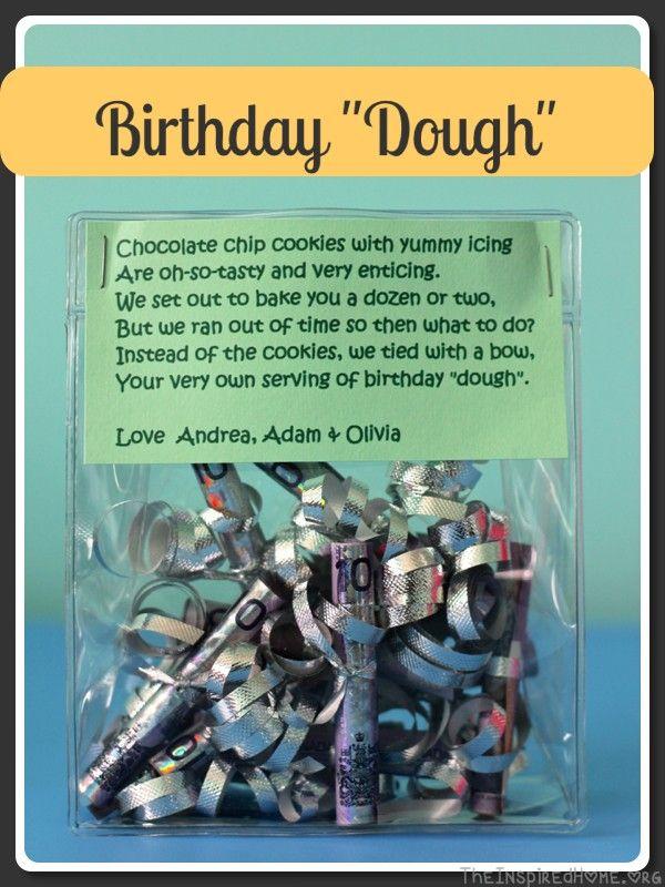 DIY Gift-Giving: Birthday Dough   Creative, Gift and Birthdays